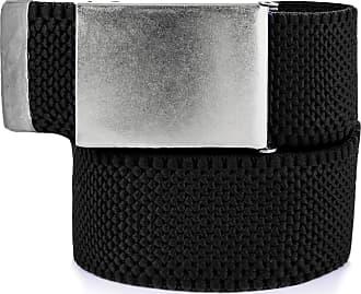 Decalen Mens Nylon Belt with Metal Automatic Buckle Canvas Breathable Men Waist Belt (Black)