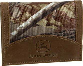 John Deere Mens Tri Fold Wallet In Gift Box, Camouflage, One Size