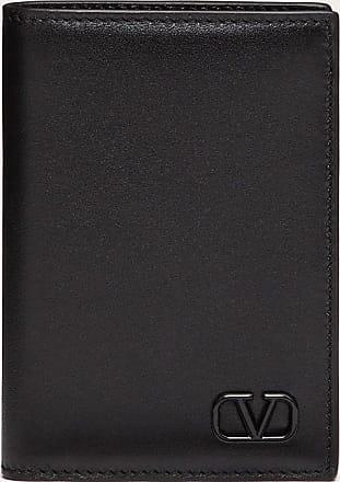 Valentino Garavani Valentino Garavani Uomo Vlogo Signature Cardholder Man Black Calfskin 100% OneSize