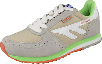 Hi-Tec Ladies Hi-Tec Lace Up Casual Trainers Shadow Original - Grey/White/Green - UK Size 4 - EU Size 37 - US Size 6