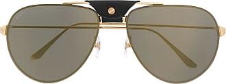Cartier Óculos de sol aviador - Dourado