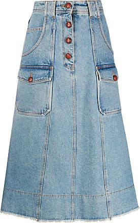 Philosophy di Lorenzo Serafini A-line denim skirt - Blue