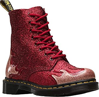 Dr. Martens Dr.Martens Damen 1460 Pascal Flame Coated Glitter Synthetic  Pink Red Stiefel c660f3dc7a