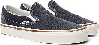 Vans Og 98 Dx Cotton-corduroy And Suede Slip-on Sneakers - Navy