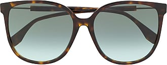Fendi Óculos de sol quadrado com lentes em degradê - Marrom