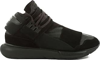 8f8b07385 Yohji Yamamoto Qasa High Suede Leather Sneakers - Black