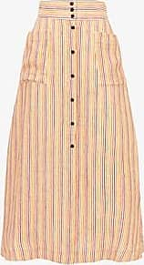 Three Graces London Anna Skirt in Rainbow Stripe