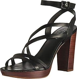 Franco Sarto Womens Maryann Heeled Sandal Black 8.5 M US