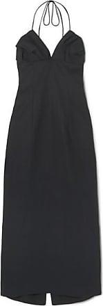 Jacquemus Bambino Linen Halterneck Midi Dress - Navy