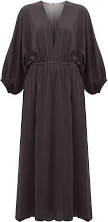 Eres Ava V-neck Crepe-jersey Midi Dress - Womens - Black