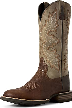 Ariat Mens Lockwood Western Boots in Antique Buckskin Leather, D Medium Width, Size 10.5, by Ariat