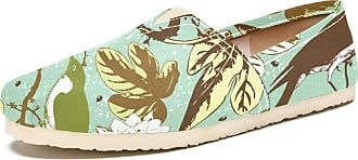 Tizorax Birds in Blossoming Flowers Mens Slip on Loafers Shoes Casual Canvas Flat Boat Shoe