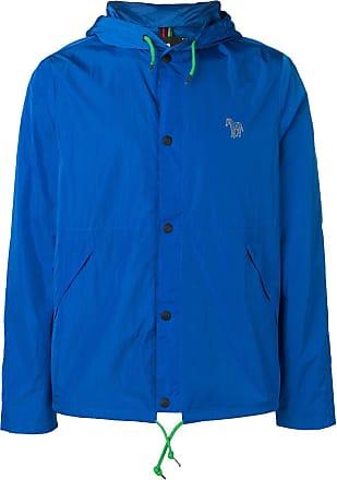 Paul Smith Jaqueta esportiva com logo bordado - Azul