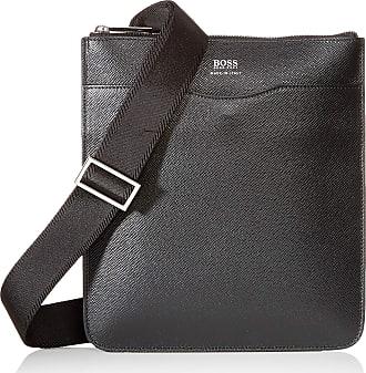 BOSS Boss Signature_s Mens Zip Env Shoulder Bag, Black, 1 x 26 x 24 cm