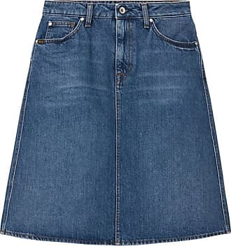 Tiger of Sweden Jeans Midi kjolar Dam MEDIUM BLUE LIZ Ny Snygg