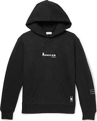 Moncler 7 Moncler Fragment Logo-print Loopback Cotton-jersey Hoodie - Black
