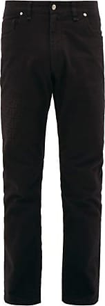 Fendi Ff-print Slim-leg Jeans - Mens - Black