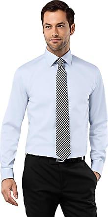 Vincenzo Boretti Mens Shirt Regular-fit Kent Collar Classic Design Plain Solid Colour 100% Cotton Non-Iron Double Cuff Designer Shirts for Men Formal Office Wedding Id