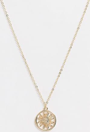 Pieces Halskette mit Sonnenblumen-Anhänger in Gold