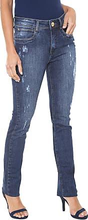 5190341377 Lança Perfume Calça Jeans Lança Perfume Reta Five Pockets Azul