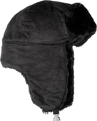 bbb4b91d9b521 Accessoryo Unisex 58cm Black Micro Suede Trapper Hat