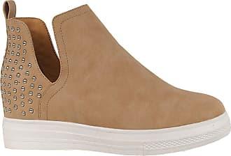 Yoki Womens DEMIAN-23 Sneaker, Beige, 5.5 UK