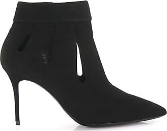 Giuseppe Zanotti Ankle Boots suede Hole pattern black