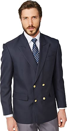 Chums Mens Double Breasted Oxford Blazer Navy 54