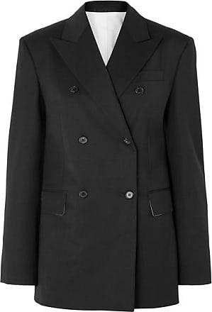 CALVIN KLEIN 205W39NYC Double-breasted Wool-blend Blazer - Black