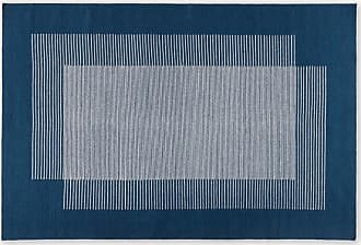MADE.COM Caixa, tapis en laine 160 x 230 cm, bleu indigo