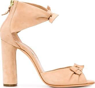 Casadei bow detail sandals - NEUTRALS