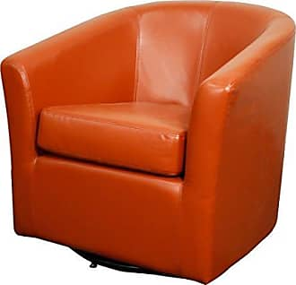 New Pacific Direct 193012B-8141 Hayden Swivel Bonded Leather Accent Chairs, Red
