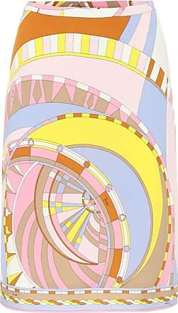 Emilio Pucci Printed jersey pencil skirt