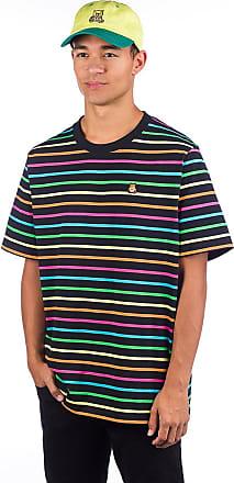 Teddy Fresh Rainbow Stripe T-Shirt black rainbow