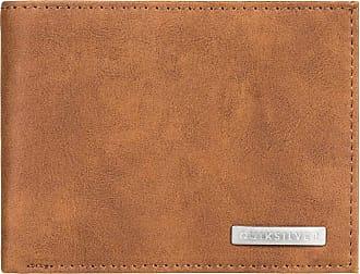 Quiksilver Mens BRIDGIES Wallets, Chocolate Brown, (Medium) 4.5 3.5(h)/12(w) x 9.5(h) cm