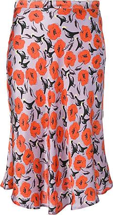 L'autre Chose floral slip skirt - Purple