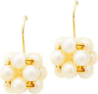 Tinna Jewelry Brinco Dourado Resina Perolada (Perolada Creme)