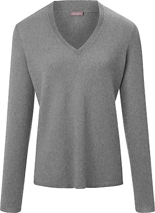 include V-neck jumper long sleeves include grey