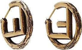 Fendi F-logo Small Hoop Earrings - Womens - Gold