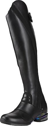 Ariat Womens Vortex Tall Riding Boots in Black Calf Leather, B Medium Width, Short Height, Regular Calf, Size 4.5, by Ariat