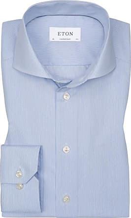 Eton Gestreiftes Businesshemd, Contemporary Fit von Eton in Hellblau für Herren