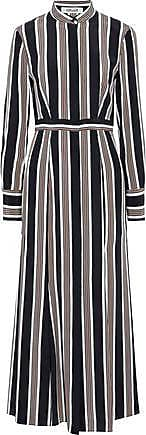 a82119bac919b Diane Von Fürstenberg Diane Von Furstenberg Woman Striped Silk Crepe De  Chine Maxi Dress Black Size