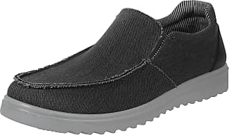 iLoveSIA Mens Loafer Canvas Casual Shoes Deep Grey New UK Size 10.5