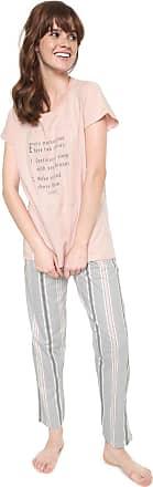 Pzama Pijama Pzama Choices Rosa/Cinza