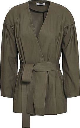 A.L.C. A.l.c. Woman Kendrick Belted Linen-blend Jacket Army Green Size 14