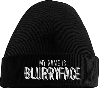 HippoWarehouse My Name is Blurryface Embroidered Beanie Hat Black