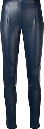 Dorothee Schumacher leather effect leggings - Blue