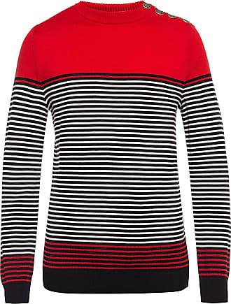 Balmain Striped Sweater Mens Multicolour