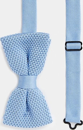Twisted Tailor knitted bow tie in light blue