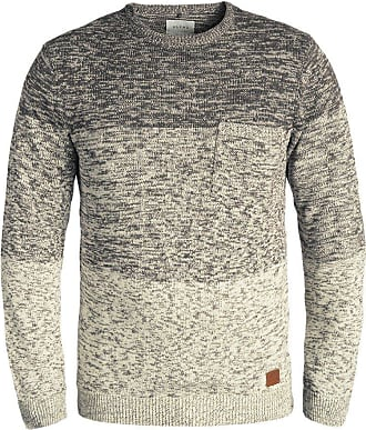 Blend Blend Garry mens knitted sweater with a crew neck - Grey - 42